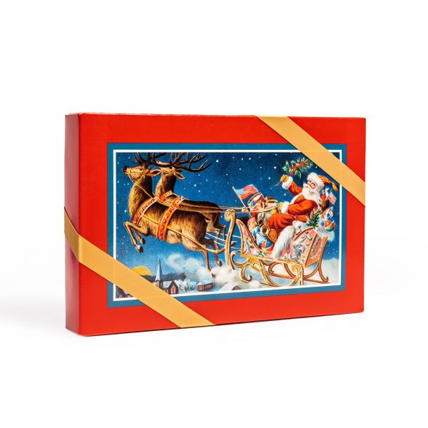 Assorted Christmas Candy Box With Santa